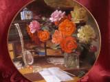 FARFURIE DECORATIVA PORTELAN ROYAL MOSA - BRADEX CU CERTIFICAT AUTENTICITATE