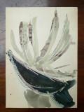 39. Planta, acuarela veche, pictura