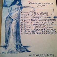 2 x Paritituri muziale vechi Repertoire Celebre Maier & Stern Litografii