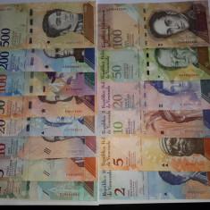 Venezuela  2-100 , 2-500 Bolivares Set 14 Bancnote UNC