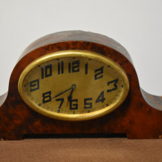 Ceas de masa / semineu din lemn Art Deco Franta - functional