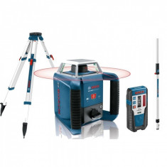 Bosch GRL 400 H + BT170HD + GR240 Nivela laser rotativa, 20m, receptor 400m, precizie 0.08 mm/m foto