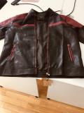 Geaca piele negru - visiniu Dixon Leather