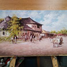 """Tablou """"Carciuma la Rucar"""" reproducere N.Grigorescu, pictura ulei"""