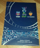 Program Fotbal Steaua Valencia CF 2005 UEFA Cup bilet Romania