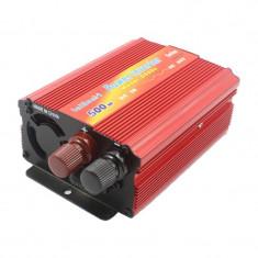 Invertor tensiune 24V-220V Lairun, 500 W, putere continua 425 W