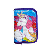 Penar neechipat 1 fermoar 2 extensii Starpak Unicorn cu paiete 388302