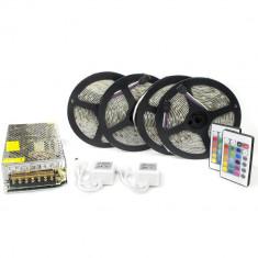 Kit complet 20m banda RGB 30SMD 5050/m telecomanda 24 taste ManiaLight foto