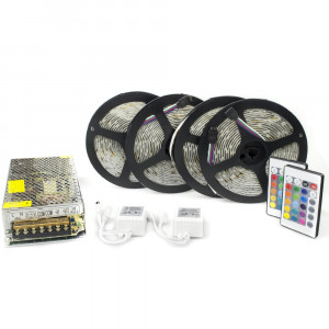 Kit complet 20m banda RGB 60SMD 5050/m telecomanda 24 taste ManiaLight