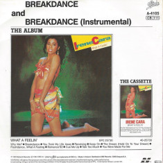 "Irene Cara - Breakdance (1983, Epic) Disc vinil single 7"""