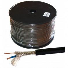 Cablu microfon stereo profesional, 6 mm, rola 100 m
