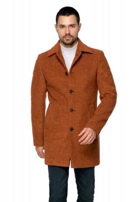 Palton barbati maro din lana cotta B161 foto