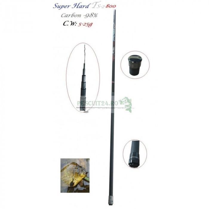 Varga/Undita Super Hard TS-2 800 C.WT: 5-25g Carbon 98%, Lungime 8 m