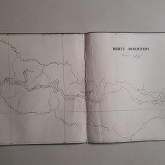 Hartă veche Munții Mineriferi, zona Zlatna