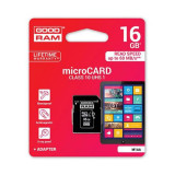 Card memorie micro-SD + Adaptor 16GB Class 10, Goodram