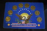 8 Jetoane Shell Presedinti SUA / carton prezentare Presidential Collector Coins