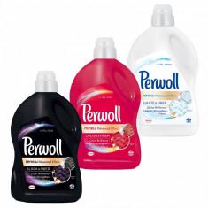 Pachet promo 3 x Perwoll Detergent lichid 2.7L 45 spalari Renew Advanced Black White Color