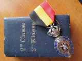 Belgia Ordinul muncii medalia muncii cutie originala RARE, Europa