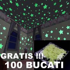 OFERTA ANIVERSARA! SET 100 STELUTE FOSFORESCENTE PT.CAMERA COPILULUI,GRATIS !!!