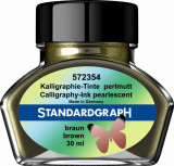 Cerneala perlata caligrafie maro Standardgraph 30 ml