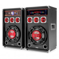Cumpara ieftin Set 2 boxe Intex, bluetooth, radio, USB, 2 x 60 W, microfon
