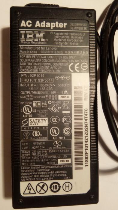93P5014 - Lenovo/IBM ThinkPad Laptop AC Adapter