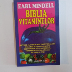 BIBLIA VITAMINELOR de EARL MINDELL 1991
