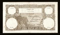 ROMANIA 100 LEI - DEcembrie 1931 . Foarte frumoasa ! Super pret ! foto