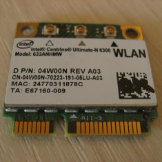 Placa wireless laptop Dell Latitude E5430, Intel Ultimate-N 6300, 633ANHMW