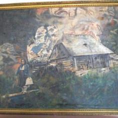 VALOROS TABLOU MARE 1926 MOARA APA PICTURA PANZA ULEI ANNY ONACA ALDESTI PARIS