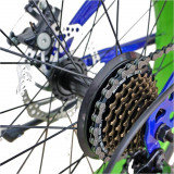 Bicicleta Fat Bike Velors V2019B cadru otel albastru verde