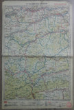 Sibiu-Blaj-Sighisoara// harta lito 1927, M. D. Moldoveanu