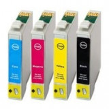 Set 4 cartuse imprimanta Epson T1291/T1292/T1293/T1294 compatibile, Multicolor, Original