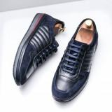 Pantofi barbati Piele Hudori albastri