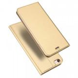 Cumpara ieftin Husa iPhone 6 6S Toc Flip Tip Carte Portofel Piele Eco Premium DuxDucis Gold