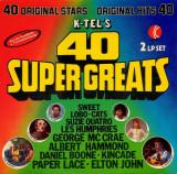 VINIL   Various – K-Tel's 40 Super Greats     2XLP -  VG   -
