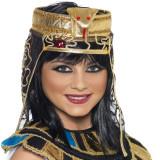 Bentita Cleopatra cu voal, insertie dantela si paiete, diametru 28 cm