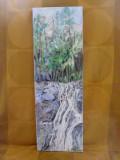 Cascada 3-pictura ulei pe panza, Natura, Altul