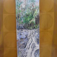 Cascada 3-pictura ulei pe panza