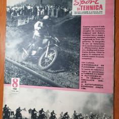 sport si tehnica august 1968-mondialul de planorism,dacia 1100,raliul romaniei