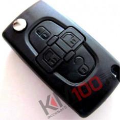 Carcasa cheie briceag Citroen, Peugeot, 4 butoane