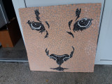 Tablou mozaic ceramica Felina, [en.casa]