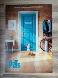 Afis film original cinema The Secret Life of Pets 2016 cinematograf