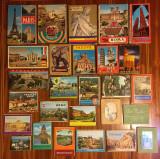 Lot 27 pliante vechi de turism orașe din Europa (anii 70-80)