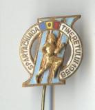 Insigna CAMPION -  SPARTACHIADA TINERETULUI 1958 - varianta atlet aplicat