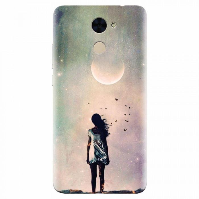 Husa silicon pentru Huawei Y7 Prime 2017, Alone Woman Cgi Hd K