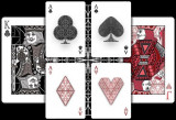 Carti de joc Fibs Black playing cards