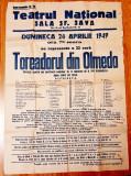 De colectie! Rar afis Teatrul National- cu autografe - anul 1949 !