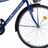 Bicicleta City 28 Velors V2893B cu cadru otel albastrualb