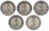 Germania set 5 monede comemorative 2 euro 2019 ADFGJ - Zidul Berlinului - UNC, Europa